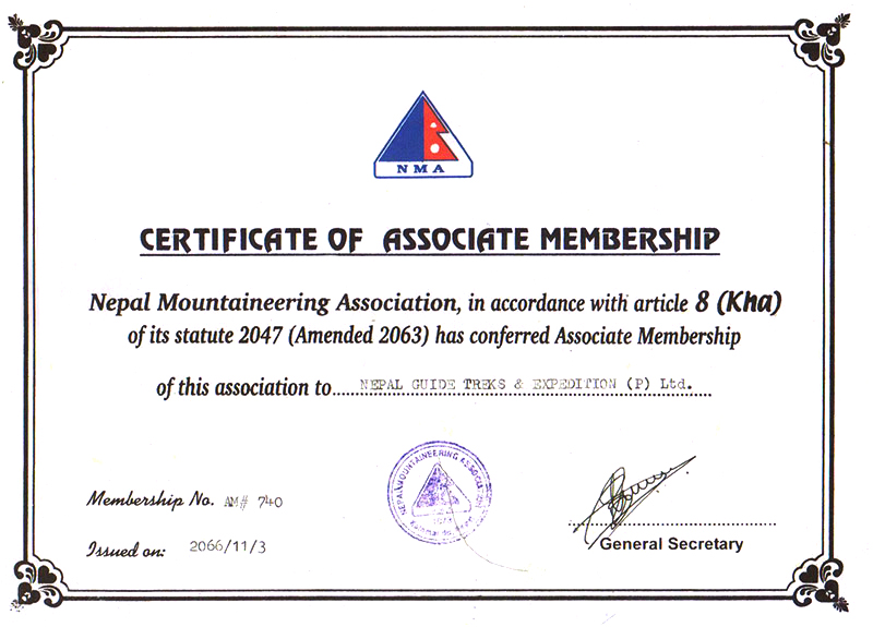 Nepal Mountaineering Association Document