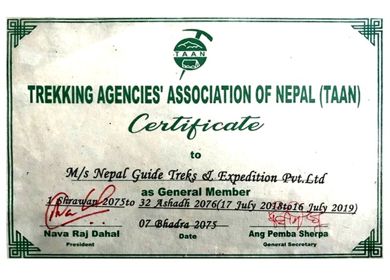 Trekking Agencies' Association Document