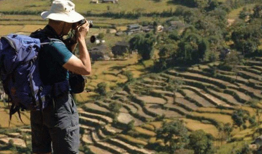 A Trekker Capturing Agricultural Farmland