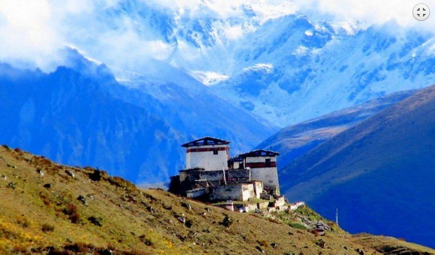 Amazing view of Lingzhi Dzong Snowman Trek.