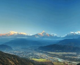 Nepal Tour | Annapurna Range from Sarangkot Hill.