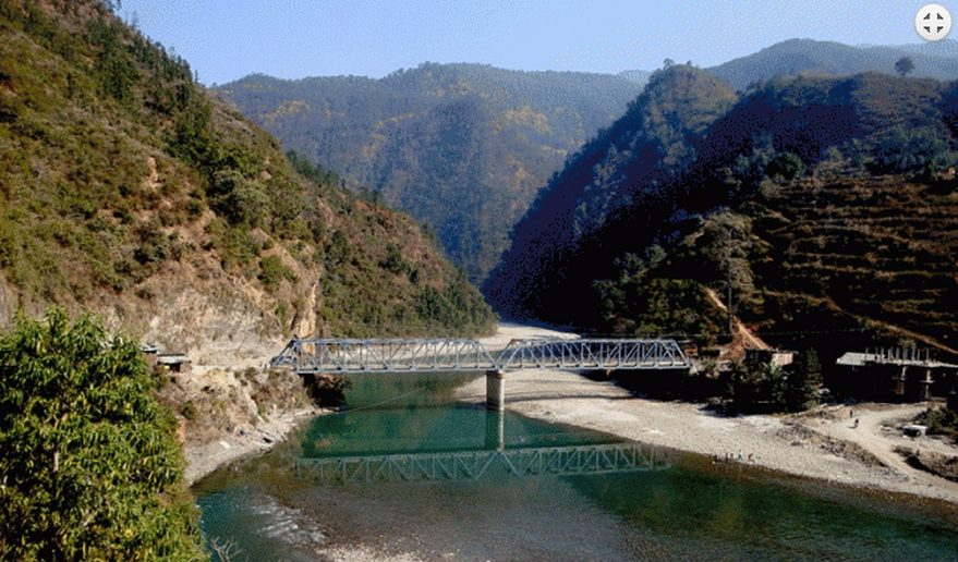 At Dolalghat - Junction point of Sunkoshi and Bhotekoshi River.