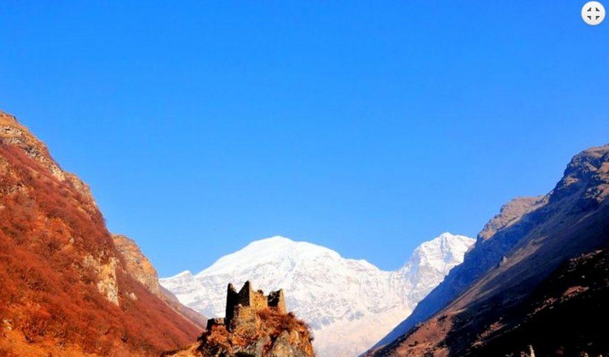 Chomolhari Base Camp Trek | Beautiful view of Chomolhari Mountain Chomolhari Base Camp Trek.