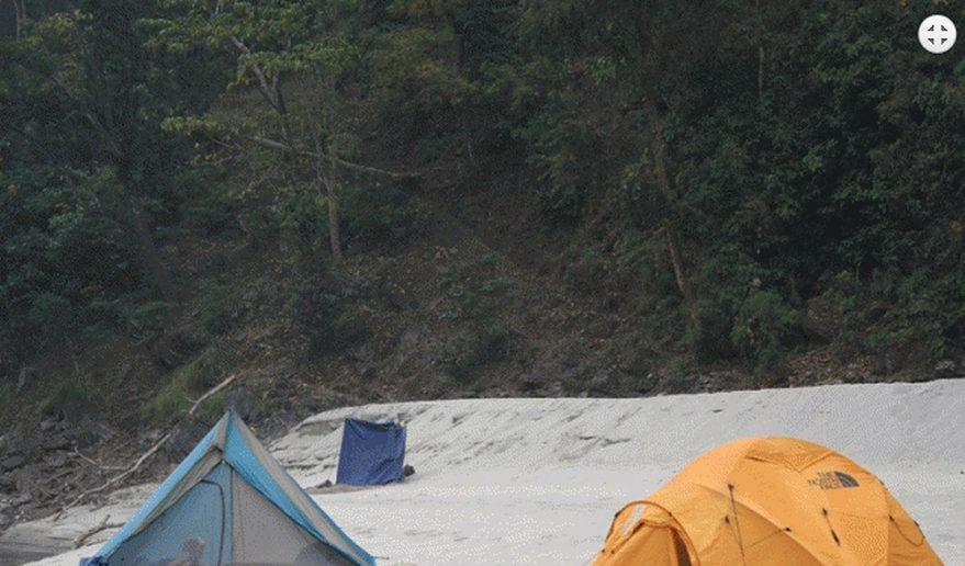 Camping along Karnali River Fishing