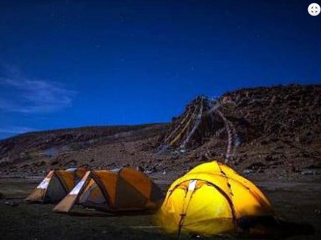 Camping at Manasarovar Lake