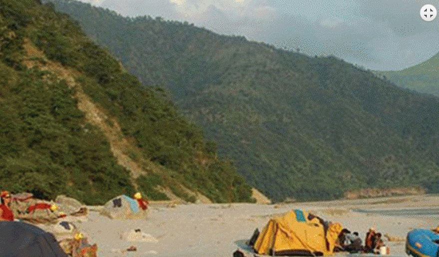 Camping beach side of the sunkoshi river.