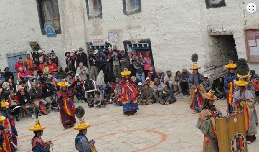 Celebrating Tiji Festival at Upper Mustang