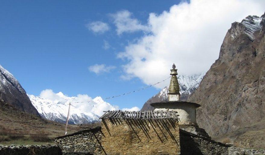 Tsum valley Trek   Chhorten and Buddhist Monastery