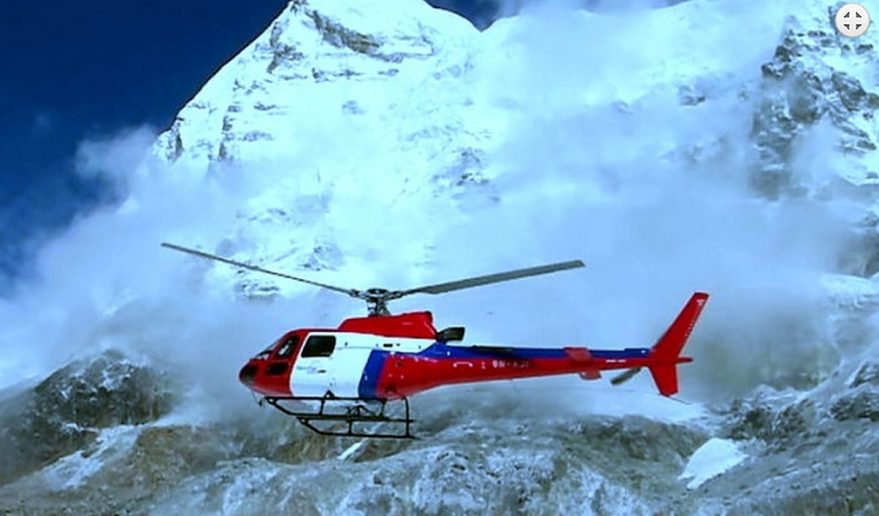 Short Helicopter tour to Everest | Chopper flying Short Helicopter Tour to Everest.