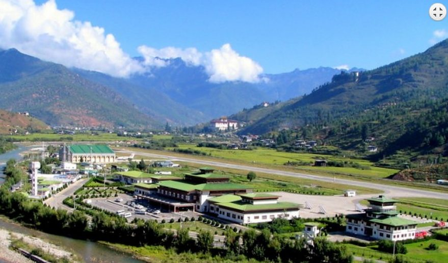 Bhutan Sightseeing Tour   City wide angle Bhutan Sightseeing Tour.
