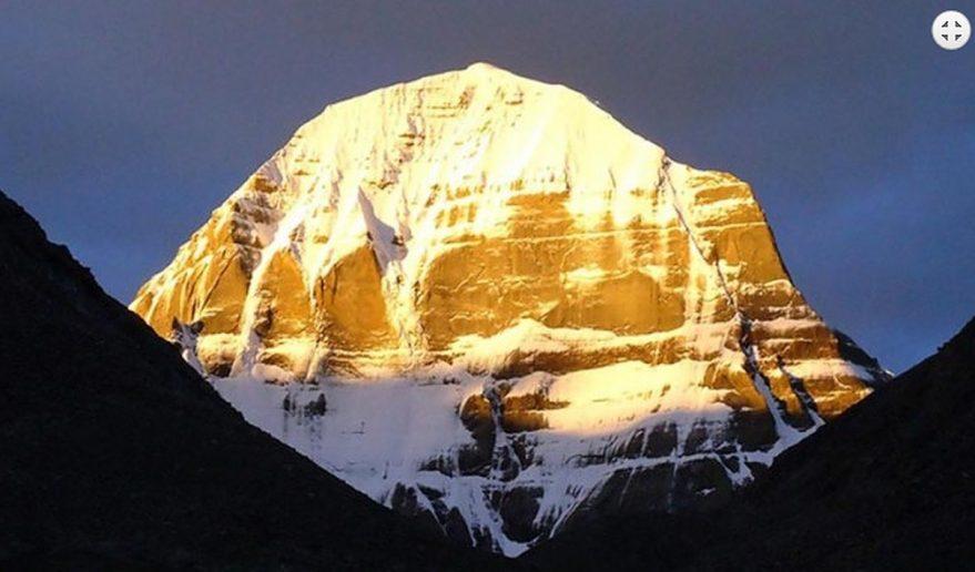 Early morning sunrise over holy Mt. Kailash.