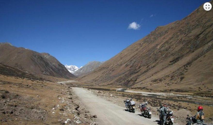 Enroute of Lhamo Latso Trek (Biking route).