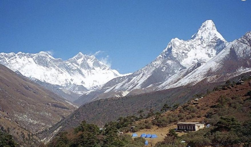 Everest and Lhotse from Dingboche