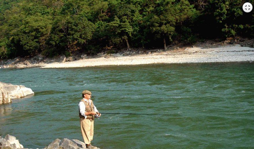 Fishing at Tamur River.