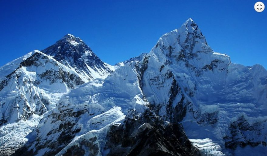 Everest Base Camp Helicopter Tour | Giant Mount Everest close angle.
