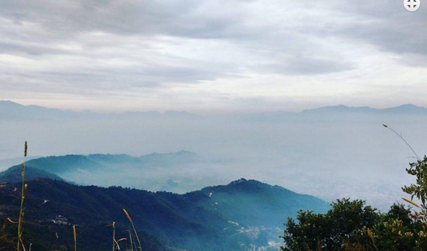 Goshainkunda Lake Trek   Green Hills view from Chisapani