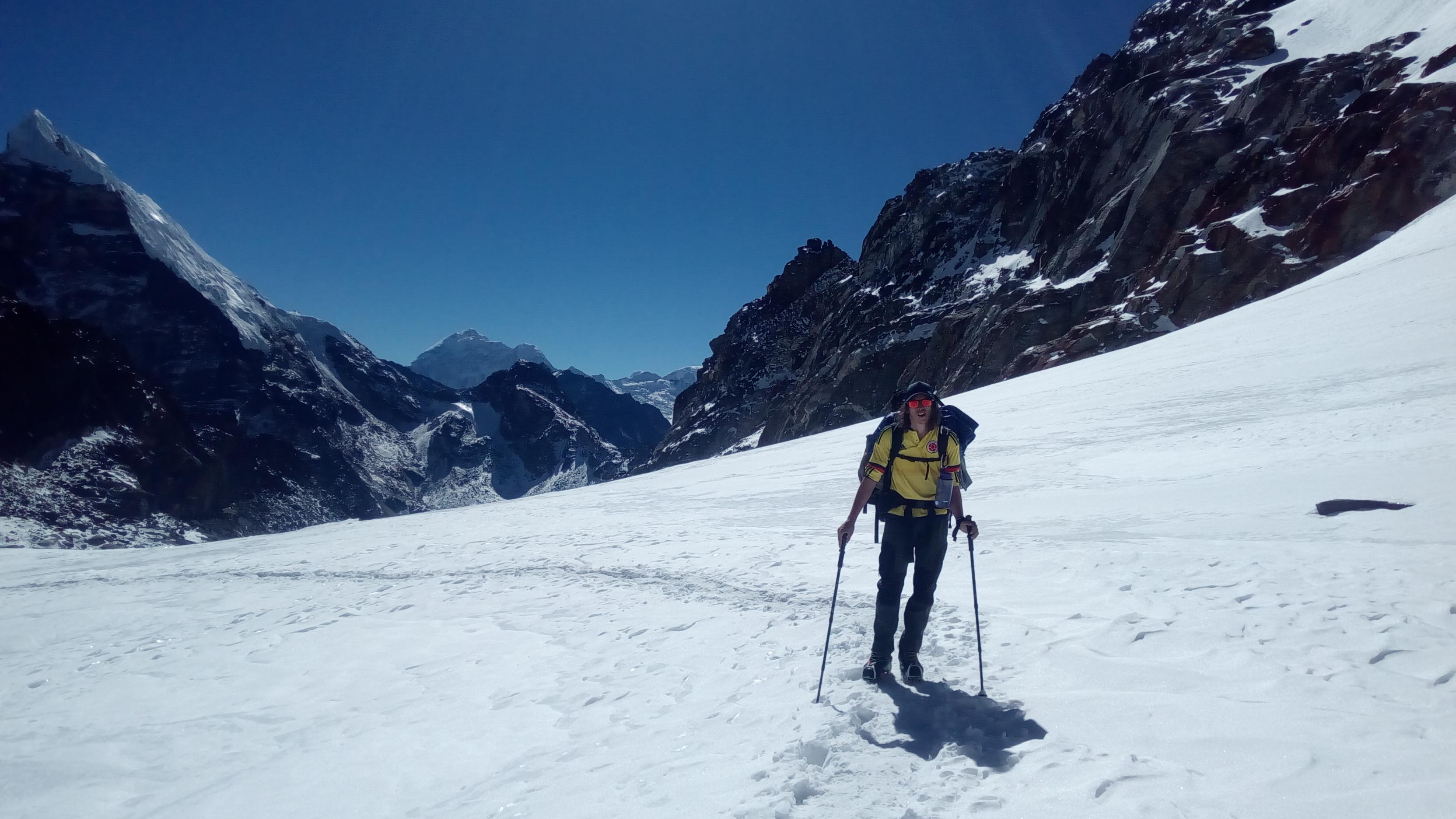 Climbing Lobuche