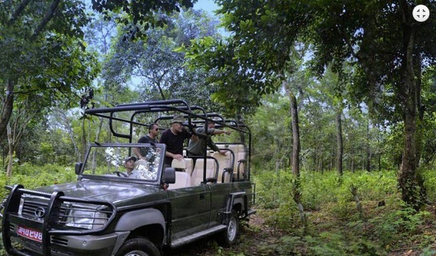 Chitwan National Park | Jeep safari inside Jungle.