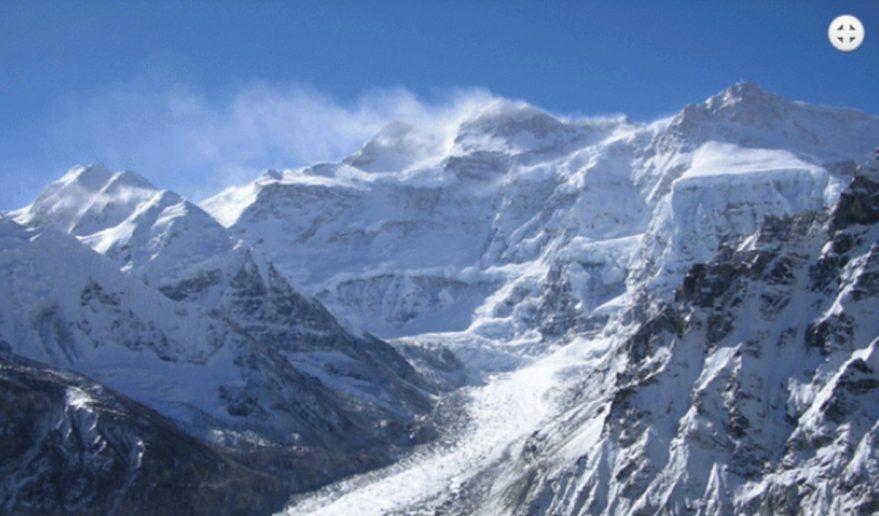 Mt. Kanchenjunga 8586m   Kanchenjunga North Face above from Pangpema