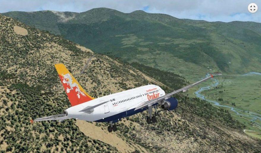 Chomolhari Base Camp Trek | Kathmandu to Paro flight with Druk airline.