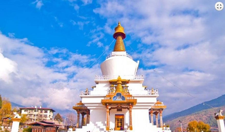 Nepal Bhutan Tour | Kings Memorable Chorten at Thimpu.