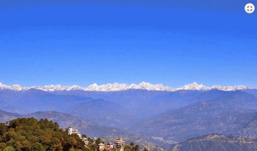 Nepal Tour | Langtang Himalayan Range form Nagarkot.
