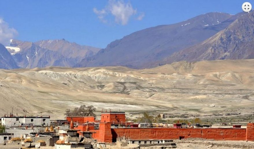 Mustang Helicopter Tour | Lo Manthang - Kingdom of Upper Mustang.