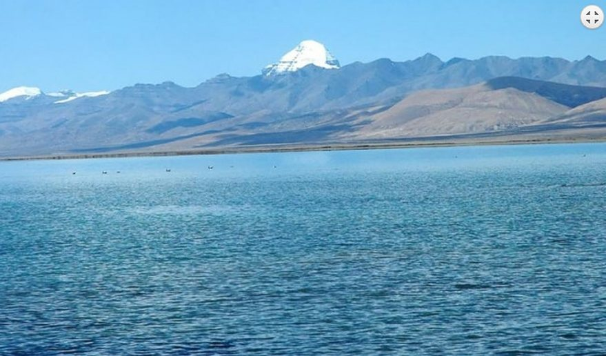 Manasarovar Lake with view of Mt. Kailash.