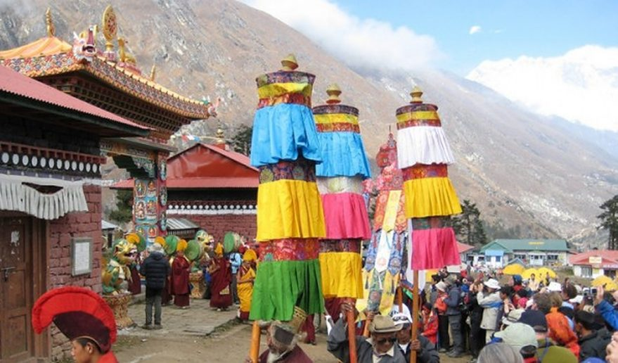 Mani Rimdu Festival at Tyangboche Monastery