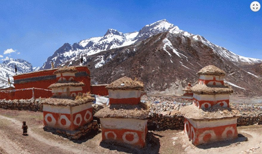 Mustang Helicopter Tour | Memorable Chorten at Shey Gompa.