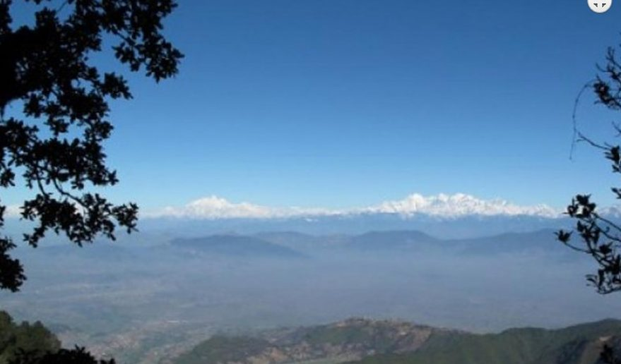 Mountain view from Phulchoki Hill.