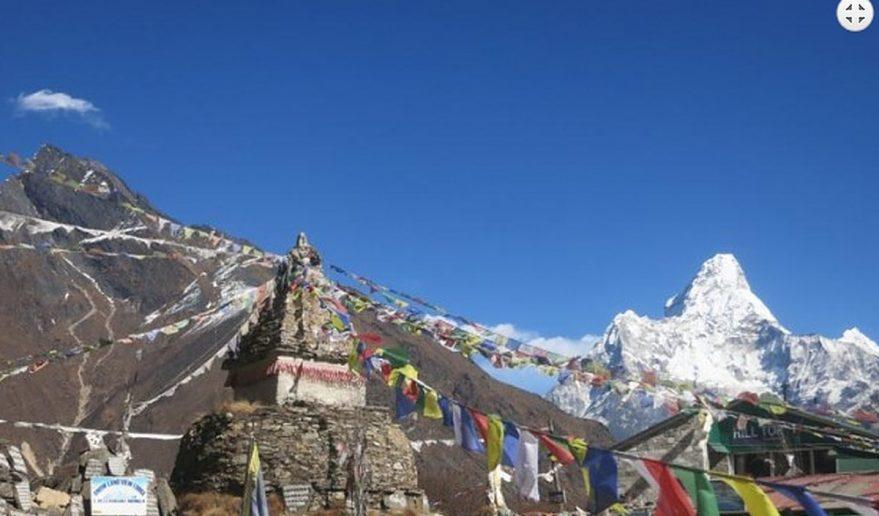 Mt. Amadablam view above Dingboche