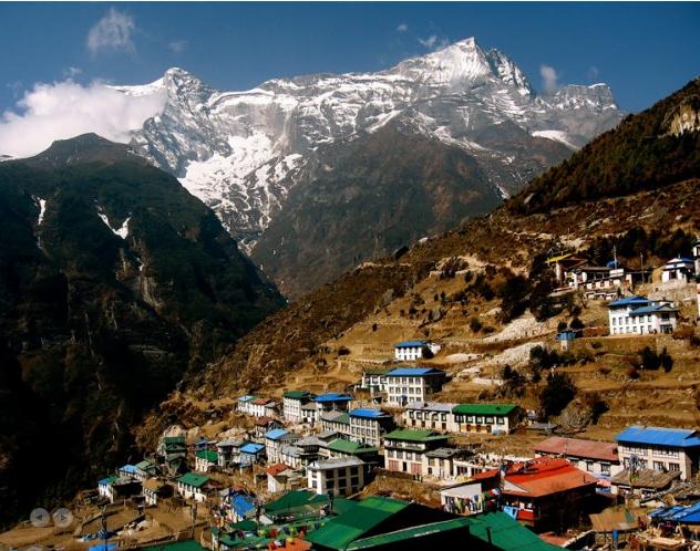 Namche Bazaar of Sherpa County