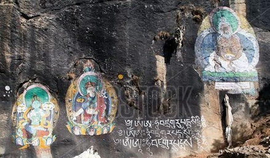 Petroglyphic images of the saints
