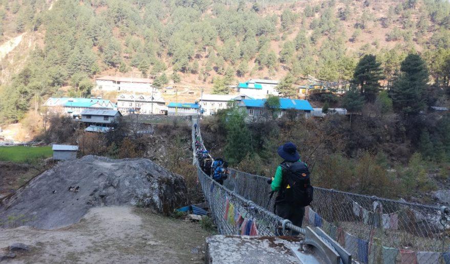 Bridge Crossing to reach Sherpa Village