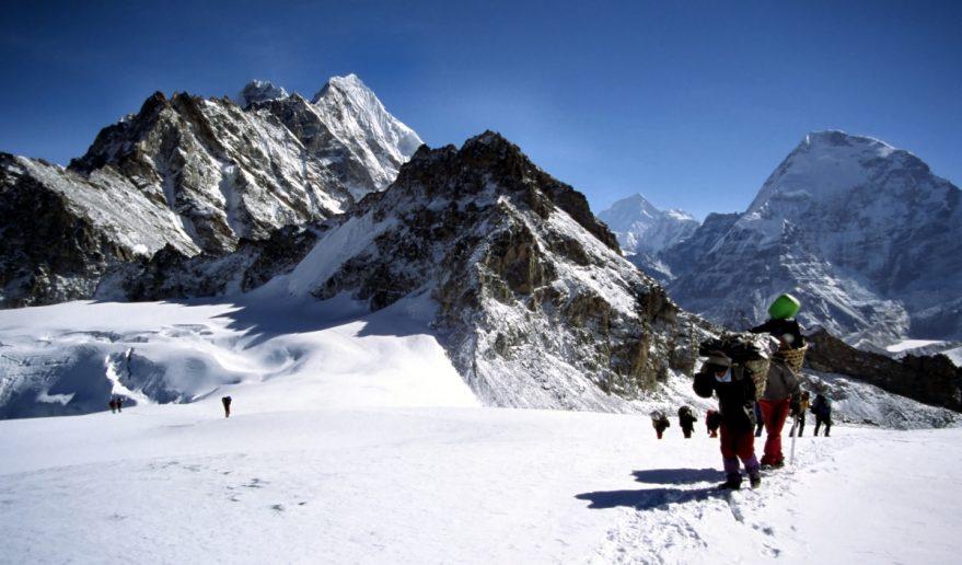 Climbers and Sherpa at Mera Peak