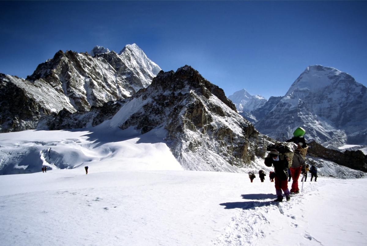 Climbers and Sherpa at Mera Peak