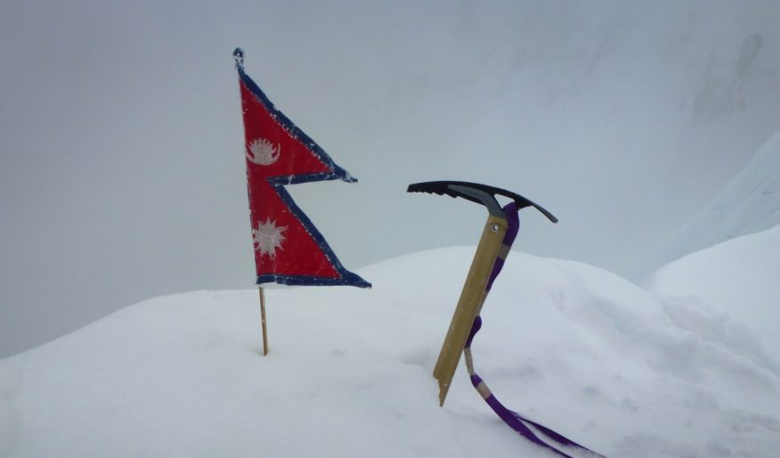Nepal Flat and Ice Axe at Island Summit