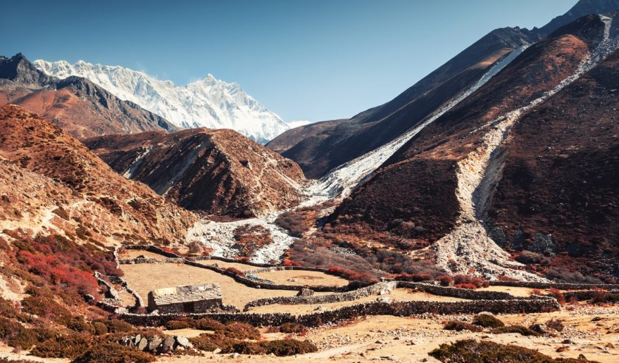 Khumbu Valley the View of Lhotse