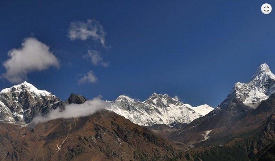 Short Helicopter tour to Everest | Panoramic scenery of Mountains.