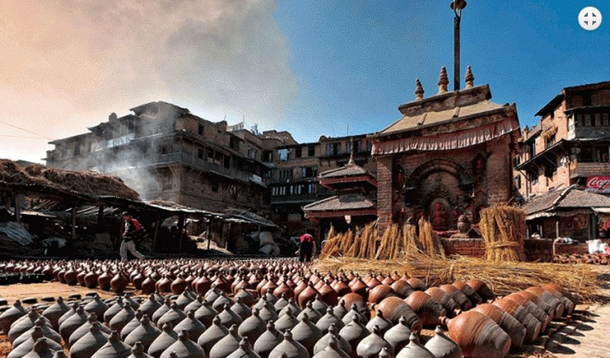 Nepal Holiday Tour | Pots made of Mud left to dry at Bhaktapur