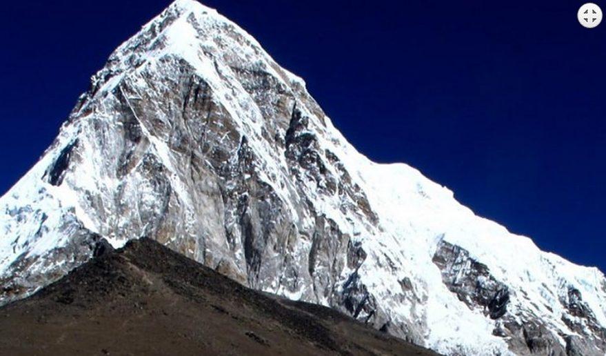 Pyramid shaped pumori peak 7161m