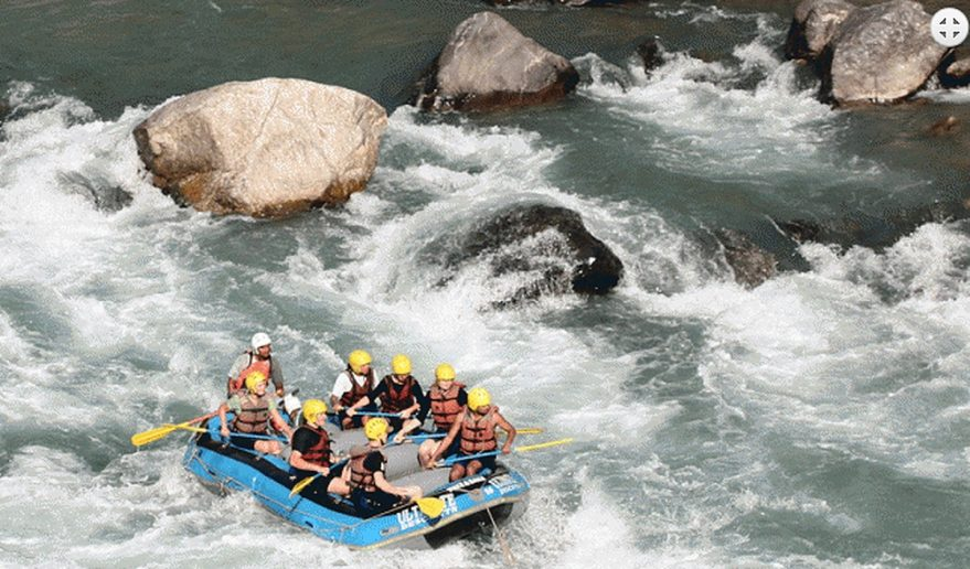 Rafting adventure in Sunkoshi River.