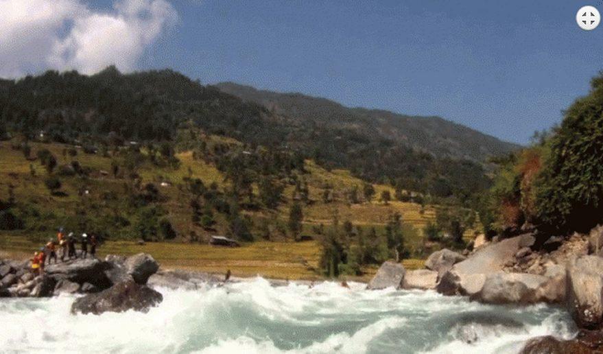 Rapids of Tamur River Fishing.
