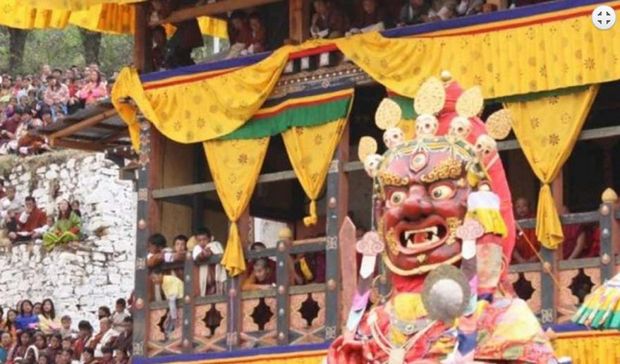 Rich Buddhist Cultural country Bhutan with their festivals.