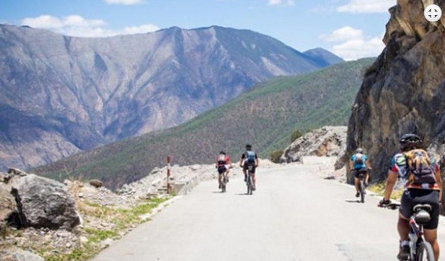 Scenery during Lhasa EBC Kathmandu Biking Tour.