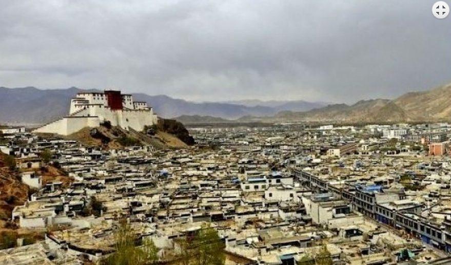 Shigatse City Top Angle Lhamo Latso Trekking.