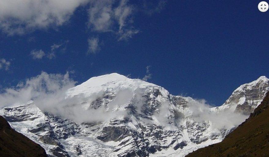 Snow-capped mountain during Dagala Thousand Lakes Trek.