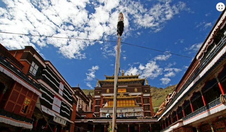 Tashihunpo Monastery at Shigatse.