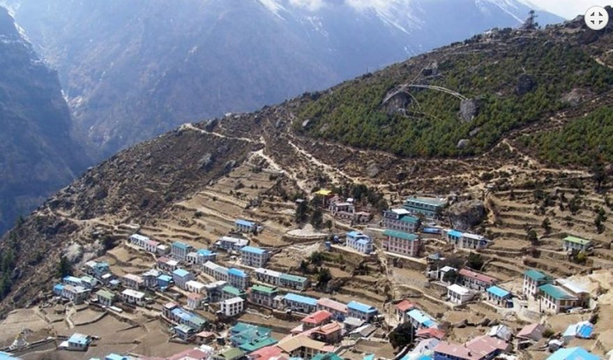Short Helicopter tour to Everest | The Sherpa Kingdom - Namche Bazaar.